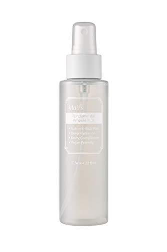 DearKlairs Fundamental Ampule Mist 4.22 Fl Oz, all skin types, ampule in a bottle