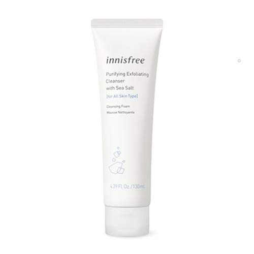 innisfree Purifying Exfoliating Cleanser with Sea Salt Face Wash Cleansing Foam
