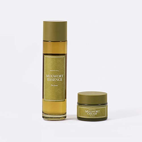 [I'm From] 2 Step Mugwort Calming Set, Essence and Cream Mugwort Extract 73.55 ~ 100%, Great for...