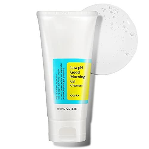 COSRX Low pH Good Morning Gel Cleanser, 5.07 fl.oz / 150ml   Mild Face Cleanser   Korean Skin Care...