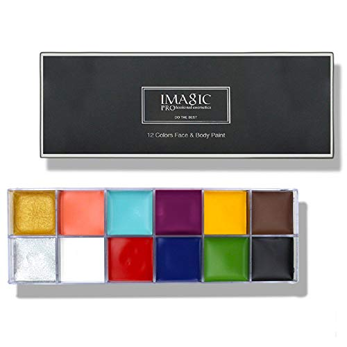 Face Body Paint IMAGIC Brand 12 Flash Colors case Halloween Party Fancy Dress Tattoo Oil Painting...