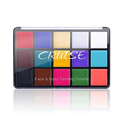 Charmcode Face Body Paint Oil, Professional 15 Colors FX Makeup Palette- Non Toxic Hypoallergenic...
