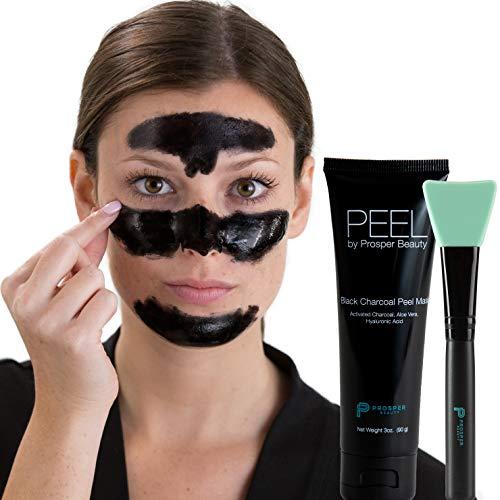 Charcoal Peel Off Mask Black [PEEL by Prosper Beauty] Large 3oz Tube Purifying Facial Blackhead...
