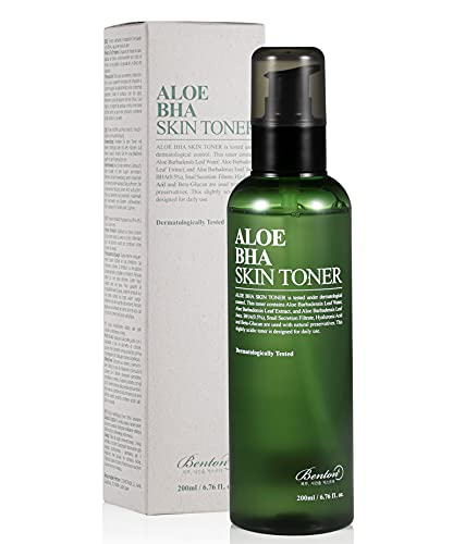 BENTON Aloe BHA Skin Toner 200ml (6.76 fl. oz.) - Contains 80% Aloe Skin Exfoliating & Moisturizing...