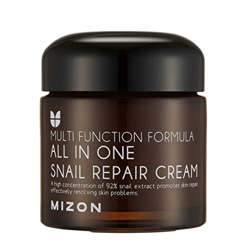 Snail Repair Cream 2.53 oz, Face Moisturizer with Snail Mucin Extract, All in One Snail Repair...