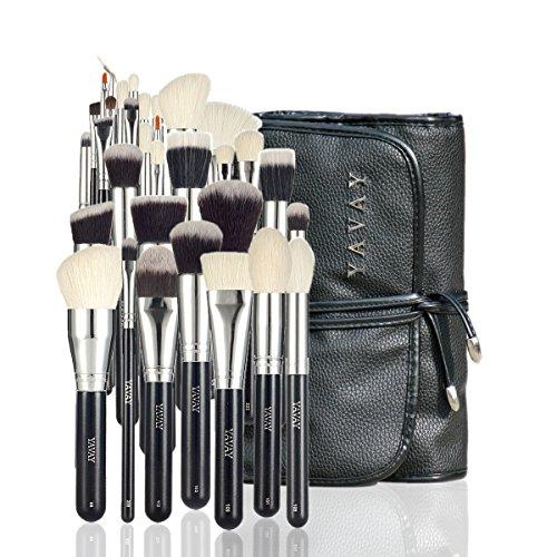 YAVAY 32PCS MASTER MAKEUP BRUSHES Premium Makeup brush set Soft Taklon Goat Hair Professional Makeup...
