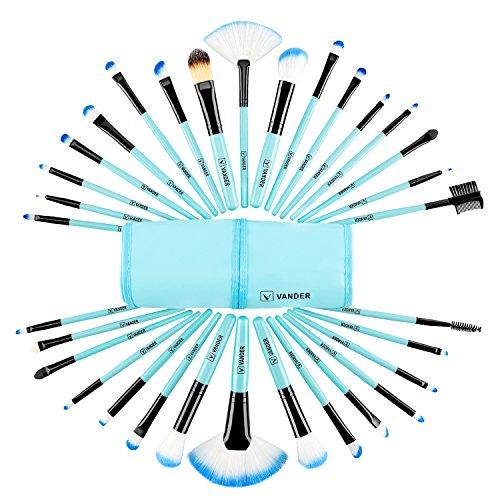 Make up Brushes, VANDER LIFE 32pcs Premium Cosmetic Makeup Brush Set for Foundation Blending Blush...