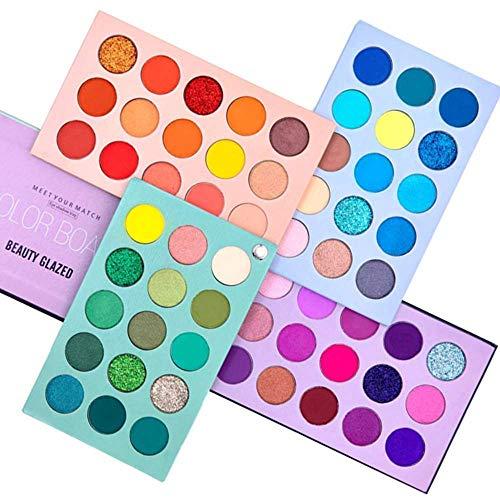 Beauty Glazed 60 Colors Eyeshadow Palette Matte Natural,4 in1 Professional Waterproof Makeup Palette...