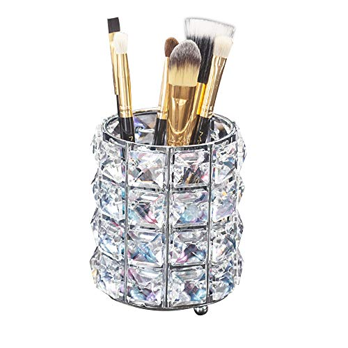 AiLa Makeup Brush Holder Organizer Golden Crystal Bling Personalized Gold Comb Brushes Pen Pencil...