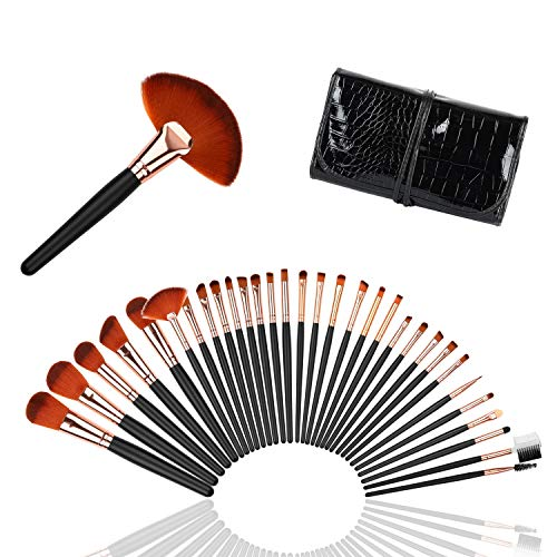 Makeup Brushes Set , Logiverl 32 Pieces Makeup Brush Set Premium Synthetic Foundation Powder...