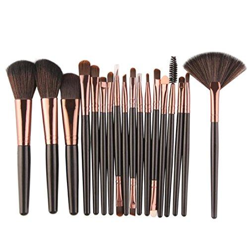 WensLTD Clearance! Premium 18 pcs Makeup Brush Set Tools Make-up Toiletry Kit Wool Make Up Brush Set...