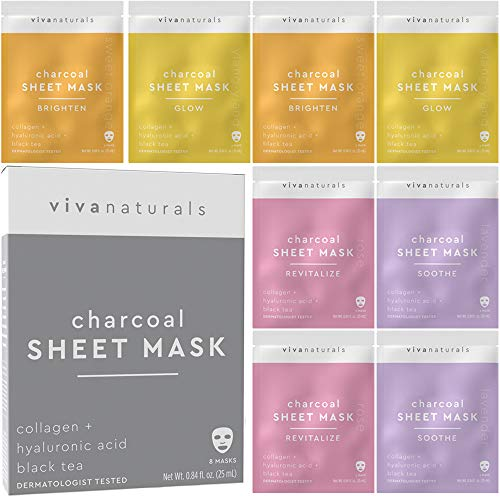 Face Masks Skincare - Facial Mask with Collagen & Hyaluronic Acid for Glowing Skin, Dermatologist...
